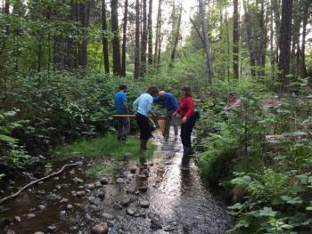 Sierra Streams Institute California Naturalists conduct water quality surveys
